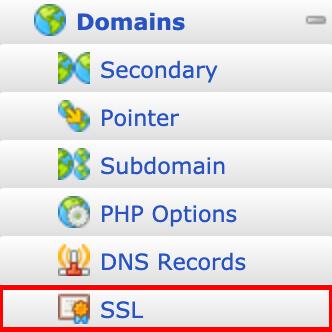 Click on SSL.