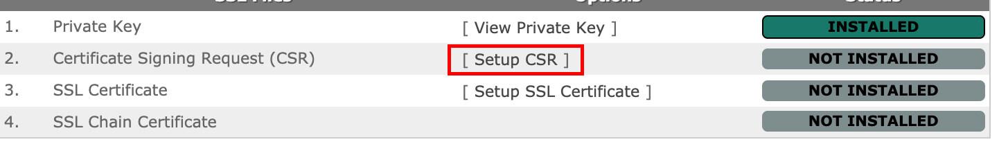 Click on View CSR.